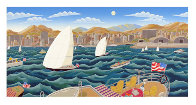 San Diego America's Cup 1992 Super Huge Limited Edition Print by Thomas Frederick McKnight - 0