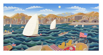 San Diego America's Cup 1992  Huge Limited Edition Print - Thomas Frederick McKnight