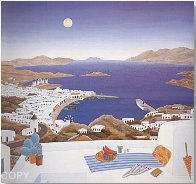 Mykonos Rooftops 1987 Huge Limited Edition Print by Thomas Frederick McKnight - 1