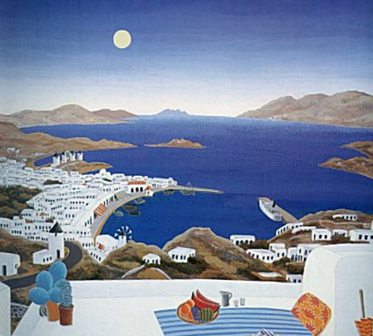 Mykonos Rooftops 1987 Huge Limited Edition Print by Thomas Frederick McKnight