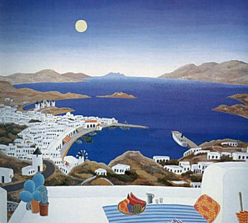 Mykonos Rooftops 1987 Huge Limited Edition Print - Thomas Frederick McKnight