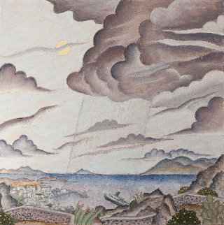 Storm Over Mykonos 2011 24x24 Original Painting by Thomas Frederick McKnight