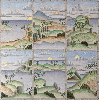 Landscape Variations 2010 36x36 Original Painting by Thomas Frederick McKnight