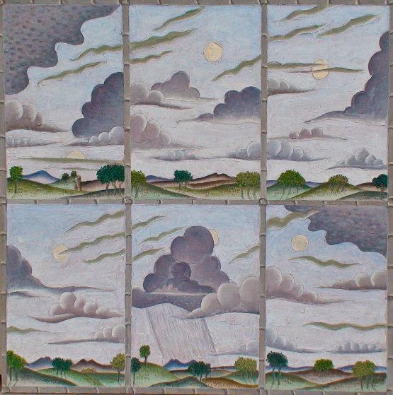 Cloud Variations 2010 36x36 Original Painting by Thomas Frederick McKnight