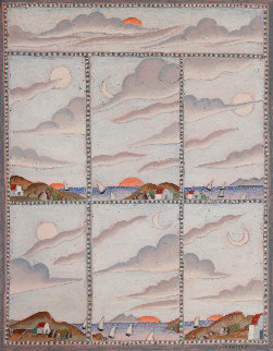 Seven Cloud Studies 2011 18x16 Original Painting - Thomas Frederick McKnight