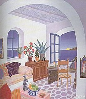 Return to Mykonos Suite of 8 1990 Limited Edition Print - Thomas Frederick McKnight