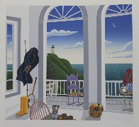 Nantucket Porch With Captain's Jacket 1991  Huge Limited Edition Print by Thomas Frederick McKnight - 1