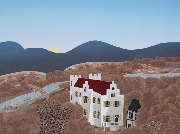 Schloss Remseck 1980 Limited Edition Print by Thomas Frederick McKnight