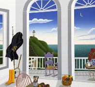 Nantucket Porch With Captain's Jacket AP 1991 Limited Edition Print by Thomas Frederick McKnight - 0