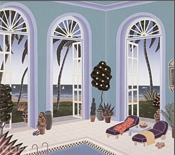 Pool  Pavillion 1991 Limited Edition Print - Thomas Frederick McKnight