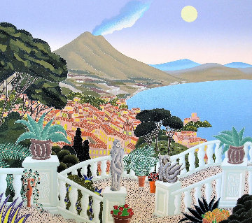 Southern Italy Suite: View of Vesuvius 2012 Limited Edition Print - Thomas Frederick McKnight
