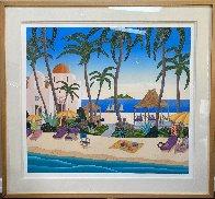 Caribbean Lagoon 1996 Huge Limited Edition Print by Thomas Frederick McKnight - 1