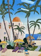 Caribbean Lagoon 1996 Huge Limited Edition Print by Thomas Frederick McKnight - 6
