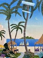 Caribbean Lagoon 1996 Huge Limited Edition Print by Thomas Frederick McKnight - 2