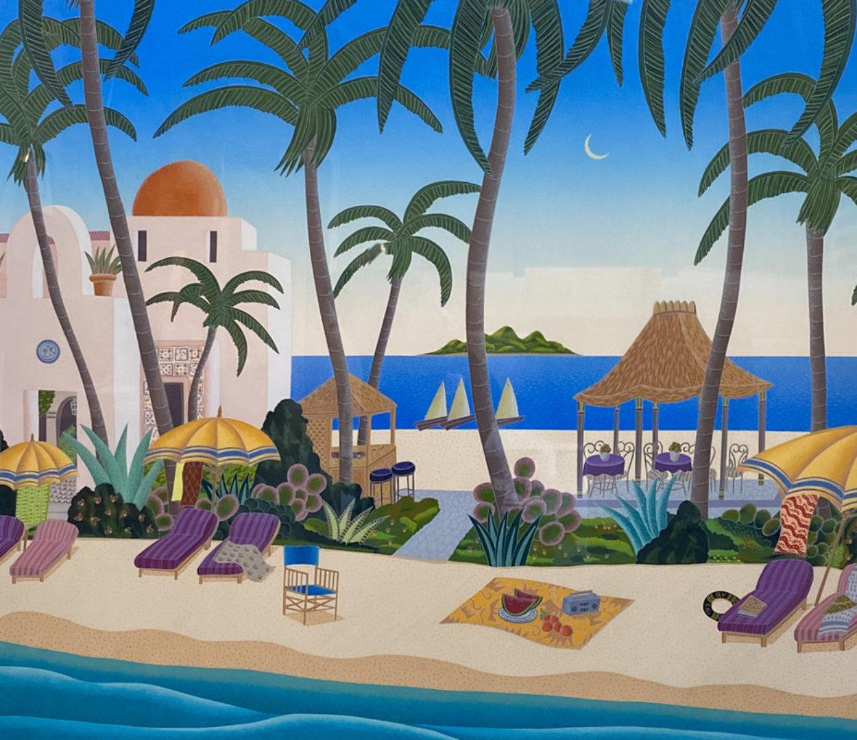 Caribbean Lagoon 1996 Huge Limited Edition Print by Thomas Frederick McKnight