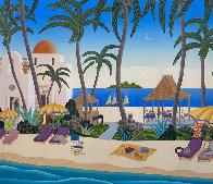 Caribbean Lagoon 1996 Huge Limited Edition Print by Thomas Frederick McKnight - 0