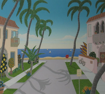 Palm Beach: North Ocean Boulevard and South Ocean Boulevard (Florida) Limited Edition Print - Thomas Frederick McKnight