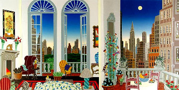 Manhattan Fantasy 1988 Huge Limited Edition Print - Thomas Frederick McKnight