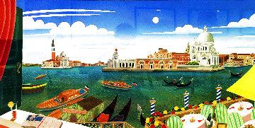 Venetian Lagoon 1992 Huge Santa Maria Della Limited Edition Print - Thomas Frederick McKnight