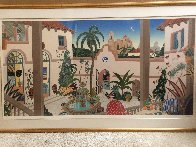 Bienestar Courtyard 1989 Super Huge Limited Edition Print by Thomas Frederick McKnight - 2