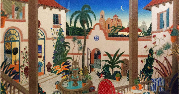 Bienestar Courtyard 1989 Super Huge Limited Edition Print - Thomas Frederick McKnight