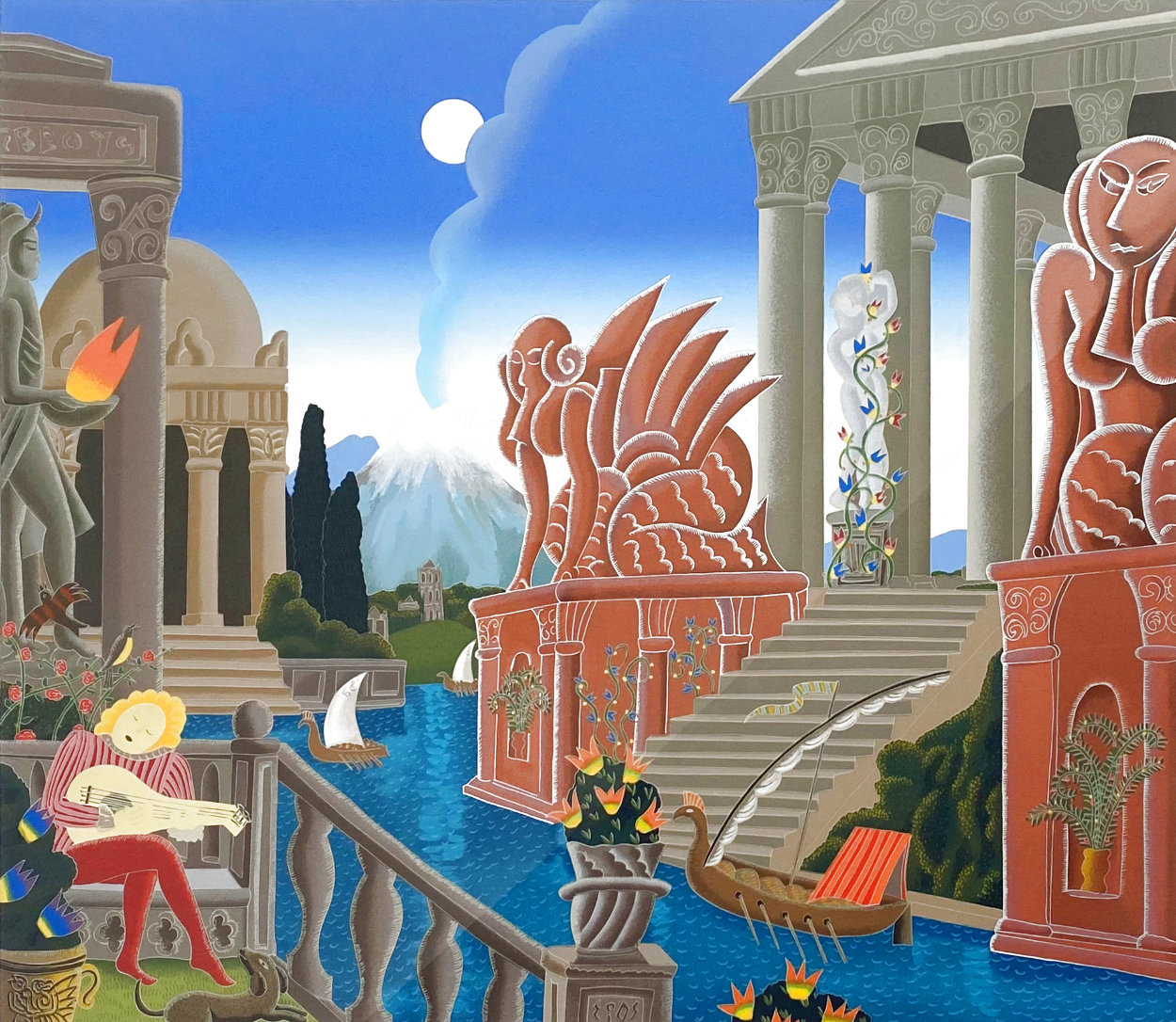 Atlantis 1987 Super Huge  Limited Edition Print by Thomas Frederick McKnight