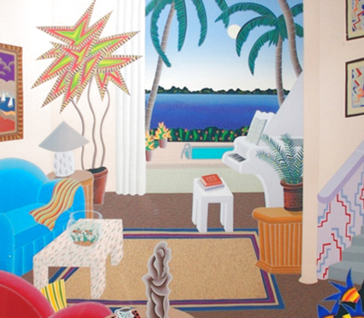 Boca Raton 1990 Huge 39x43 Super Huge  Limited Edition Print by Thomas Frederick McKnight