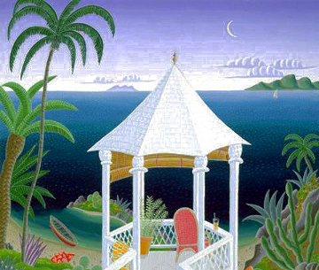 Tropical Gazebo 1995 Super Huge Limited Edition Print - Thomas Frederick McKnight