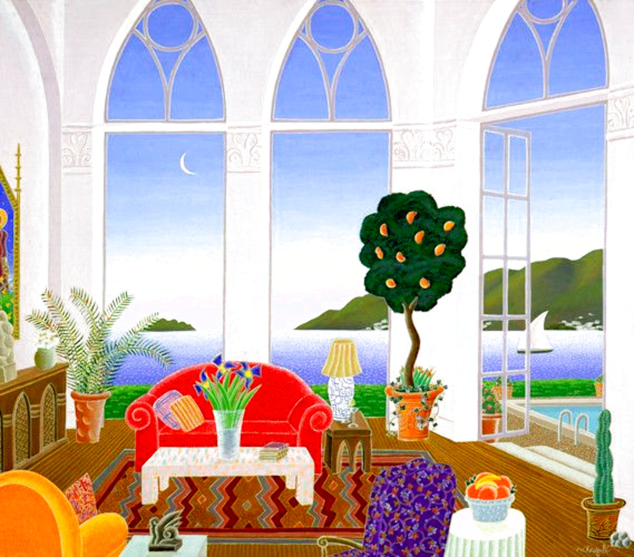 Red Couch 1989 Super Huge Limited Edition Print by Thomas Frederick McKnight