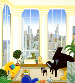 Chicago Penthouse - Huge Limited Edition Print - Thomas Frederick McKnight