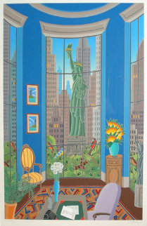Seven Statues (Statue of Liberty) New York  1986 Limited Edition Print - Thomas Frederick McKnight