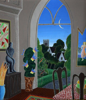 Untitled: Interior 1980 Original Painting by Thomas Frederick McKnight