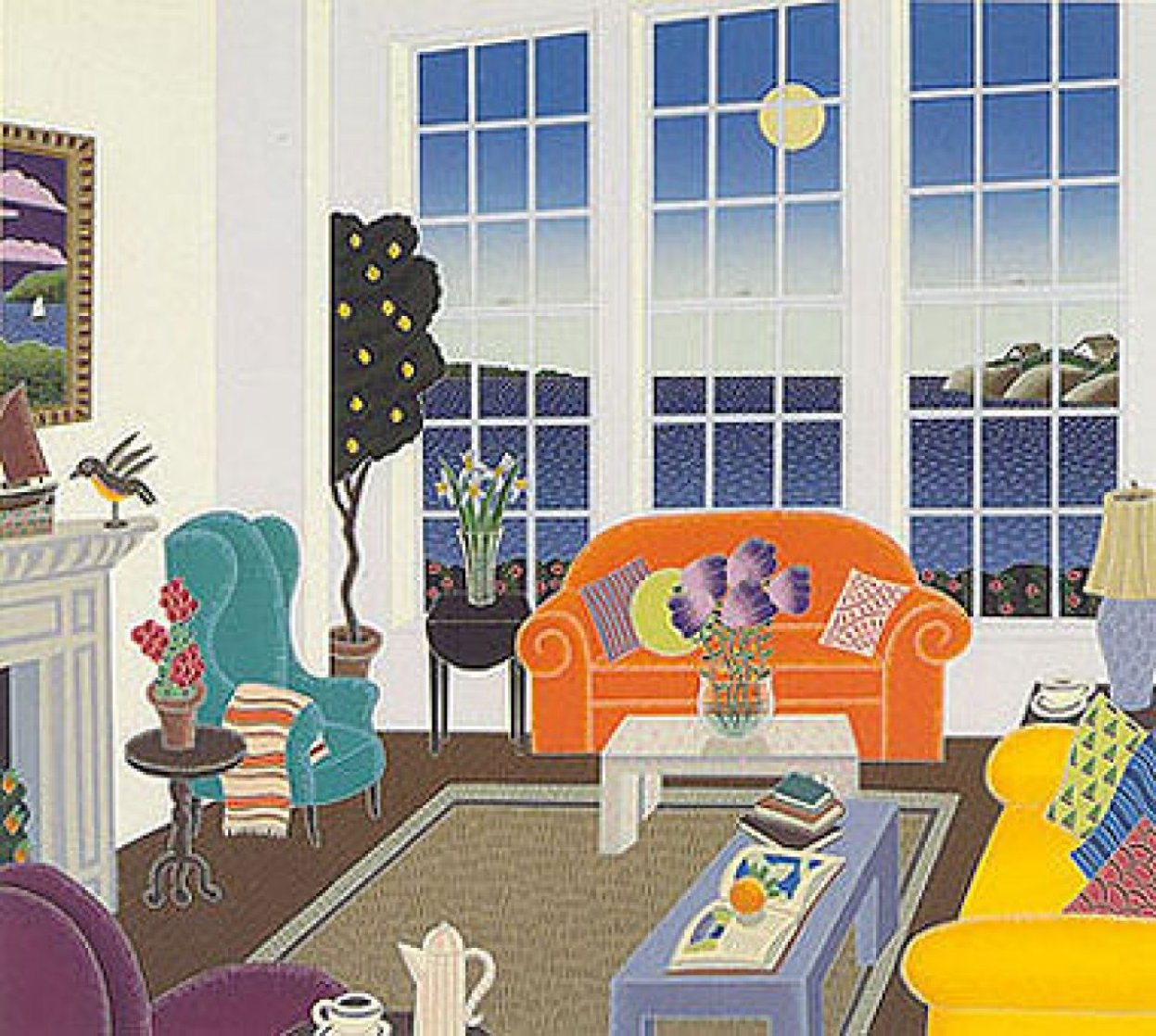 New England Suite of 4 Serigraphs Limited Edition Print by Thomas Frederick McKnight