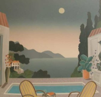 Riviera Villa 1993 Huge Limited Edition Print - Thomas Frederick McKnight