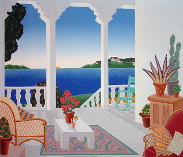 Four Corners Suite, Set of 4 Paintings 1989 40x42 Original Painting by Thomas Frederick McKnight