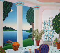 Four Corners Suite, Set of 4 Paintings 1989 40x42 Super Huge Original Painting by Thomas Frederick McKnight - 1