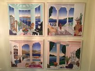 Four Corners Suite, Set of 4 Paintings 1989 40x42 Super Huge Original Painting by Thomas Frederick McKnight - 4
