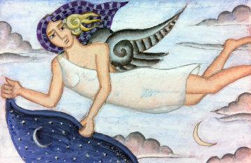 Angel of Nightfall 2013 Original Painting - Thomas Frederick McKnight