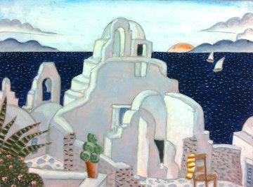Paraportiani Church - Mykonos, Greece 2011 Original Painting - Thomas Frederick McKnight