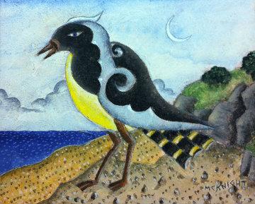 Yellow Bird 2010 8x10 Original Painting - Thomas Frederick McKnight