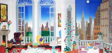 Manhattan Fantasy 1989 Limited Edition Print by Thomas Frederick McKnight