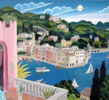 Portofino Terrace (Italy) 2010 Limited Edition Print by Thomas Frederick McKnight