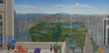 Central Park Panorama Huge Limited Edition Print - Thomas Frederick McKnight