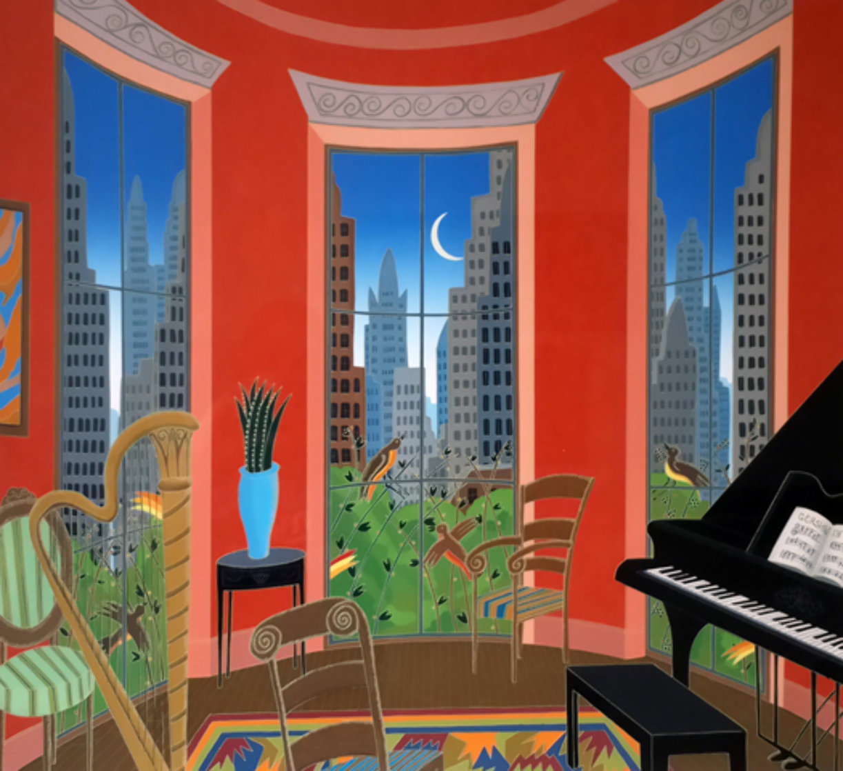 Music in Manhattan 1982 Super Huge Limited Edition Print by Thomas Frederick McKnight