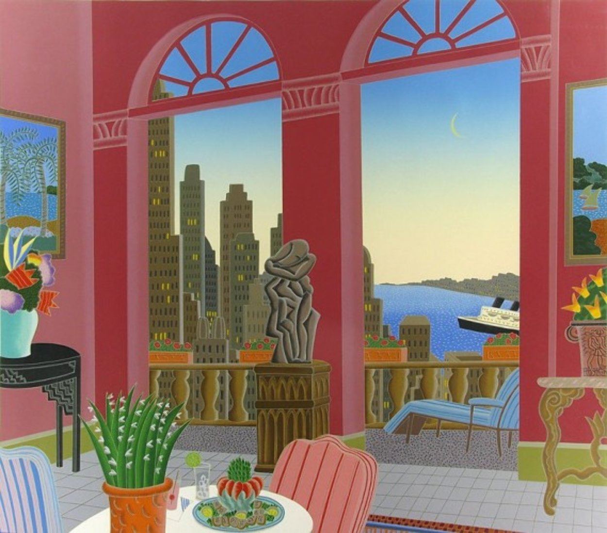 Ports of Call 1987 Super Huge Limited Edition Print by Thomas Frederick McKnight