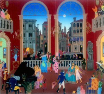 Carnival in Venice Limited Edition Print - Thomas Frederick McKnight
