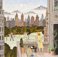 Apollo And Daphne in Central Park 2010 30x30  Original Painting by Thomas Frederick McKnight - 1