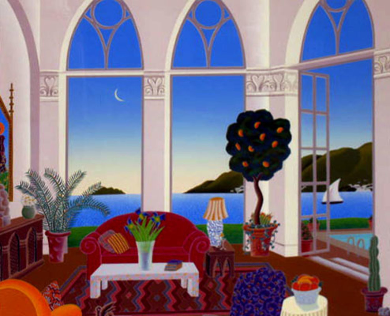 Red Couch Limited Edition Print by Thomas Frederick McKnight
