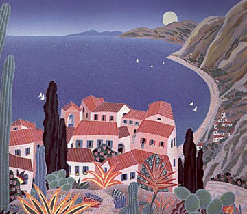 La Cote D' Azur   Eze 1988 Limited Edition Print - Thomas Frederick McKnight