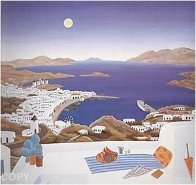 Mykonos Rooftops 1982 Super Huge Limited Edition Print by Thomas Frederick McKnight - 1